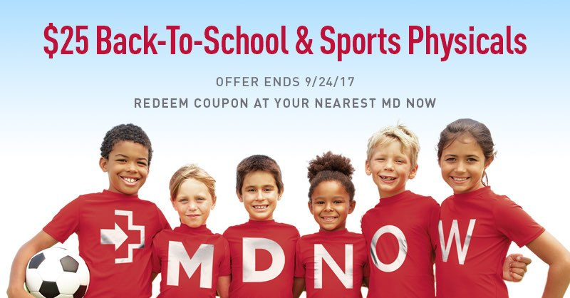 MD Now Makes Required Back-to-School Physicals Easier with 30 Convenient Locations