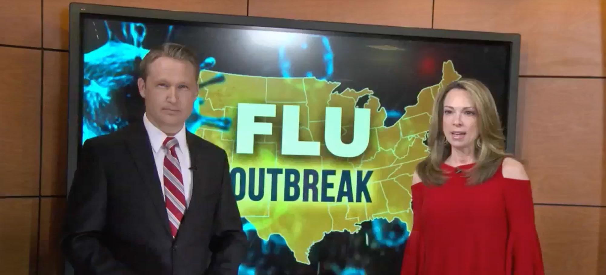 alguno-padre-acometer-a-conseguir-gripe-tiro-para-su-cabrito-hospital-sensación-gripe-impacto