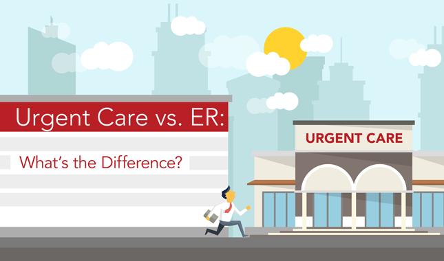 Cuidado urgente contra ER: ¿Cuál es la diferencia?