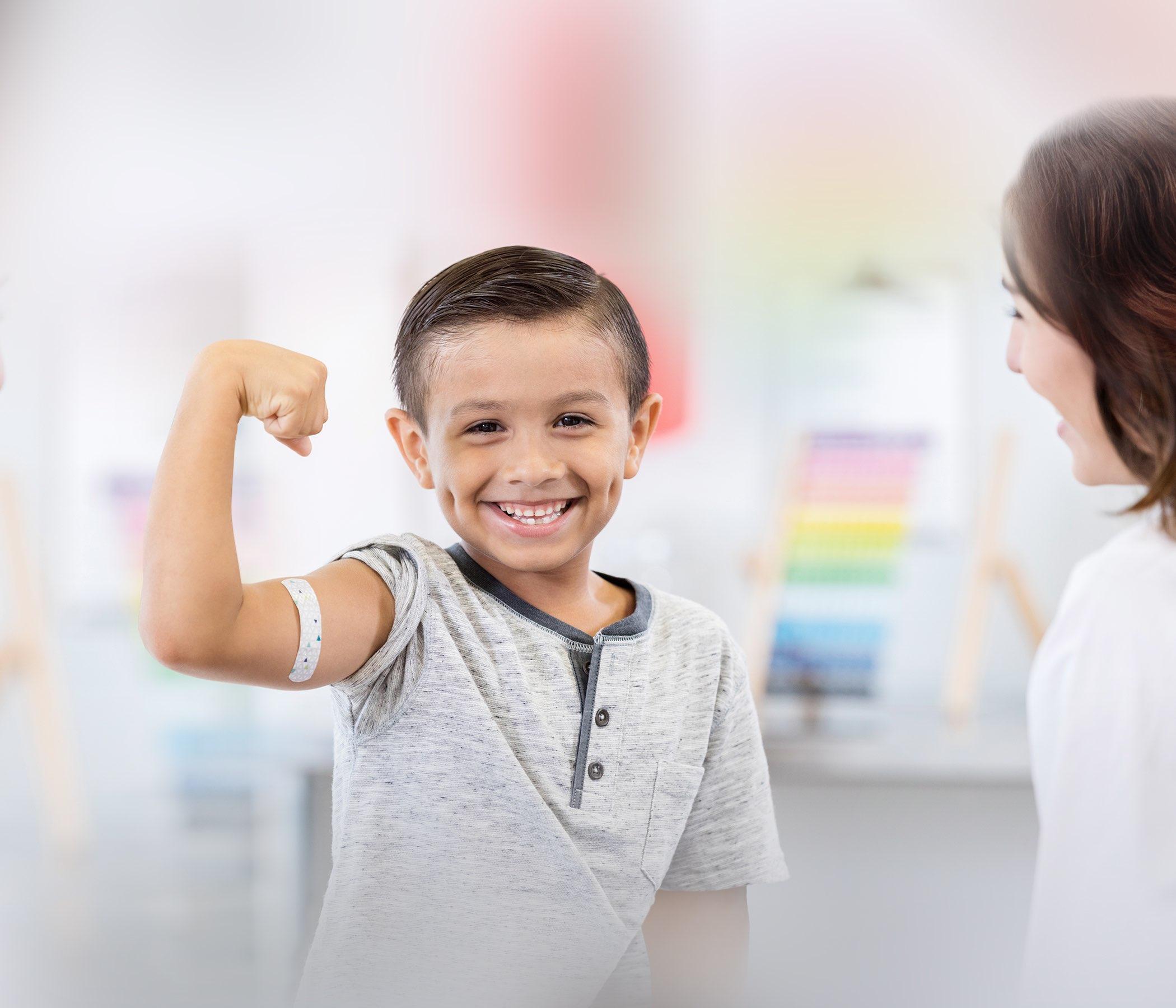Cabrito que consigue una vacuna